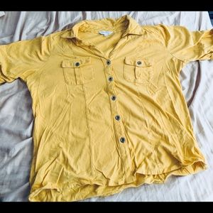Tops - Yellow button down